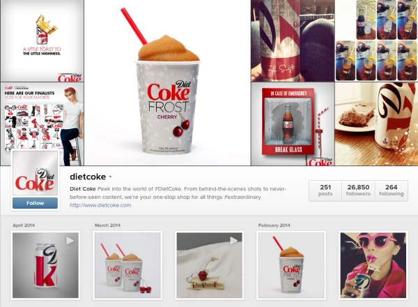 Diet Coke Instagram