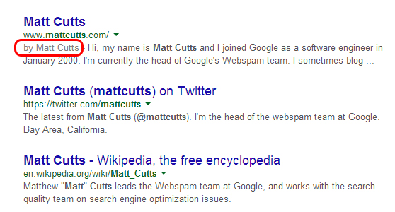 Matt Cutts authorship 2