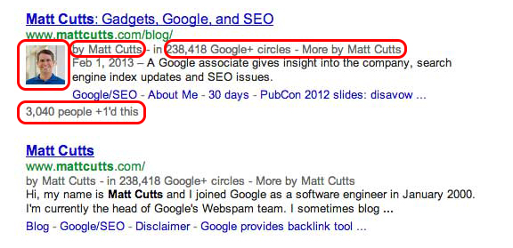 Matt Cutts Authorship New